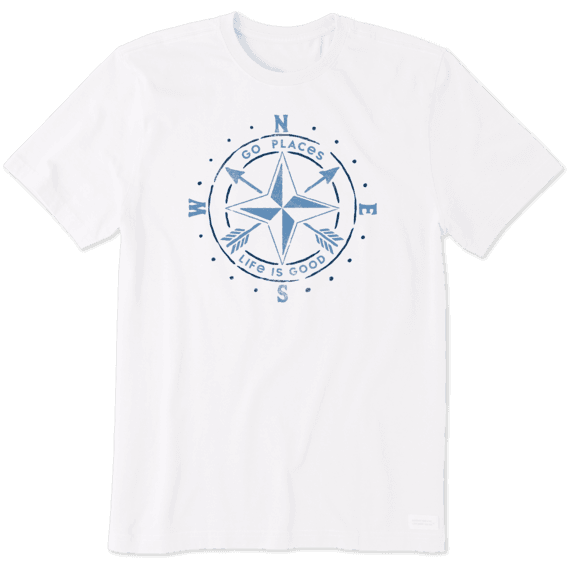 Men's Go Places Compass Crusher Tee