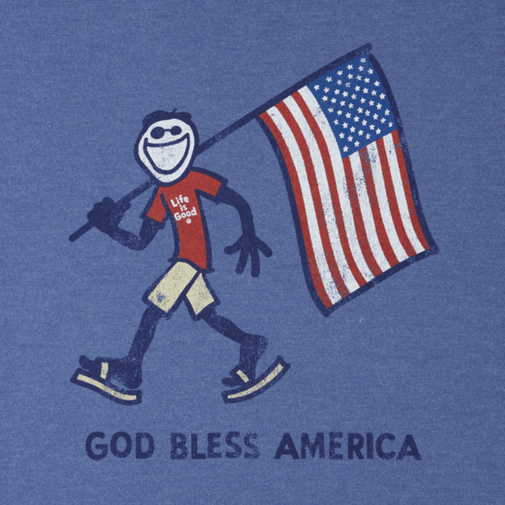Men's God Bless America Crusher Tee