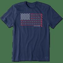 Men's Golf Flag Short Sleeve Tee