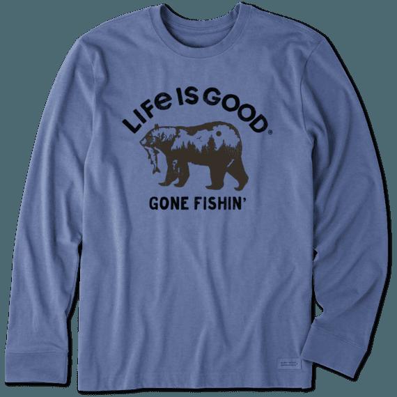 Men's Gone Fishin' Long Sleeve Crusher Tee