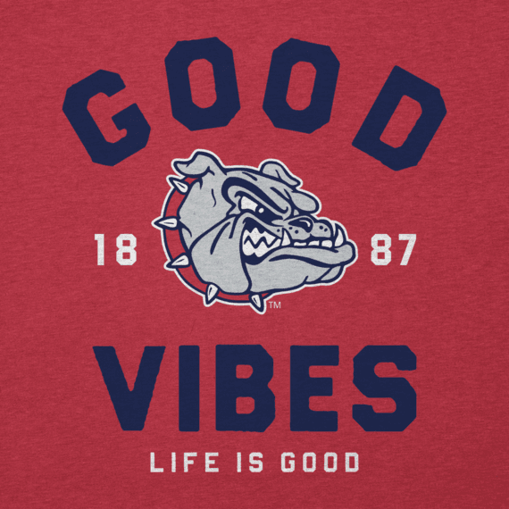 Men's Gonzaga Bulldogs Good Vibes Arc Long Sleeve Cool Tee