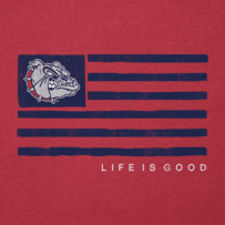 Men's Gonzaga Bulldogs Team Flag Cool Tee