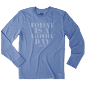 Men's Good Day Lines Long Sleeve Crusher Tee