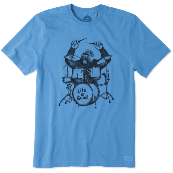 Men's Gorilla Drummer Crusher Tee