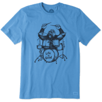 Men's Gorilla Drummer Crusher Tee