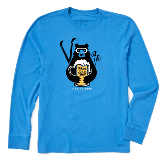 Men's Grab a Cold One Long Sleeve Crusher Tee