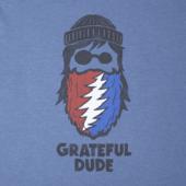 Men's Grateful Beard Long Sleeve Crusher Tee