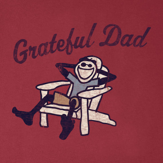 Men's Grateful Dad Adirondack Long Sleeve Smooth Tee