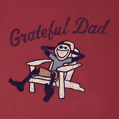 Men's Grateful Dad Adirondack Long Sleeve Smooth Tee