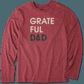 Men's Grateful Dad Long Sleeve Cool Tee