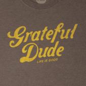 Men's Grateful Dude Thanks Long Sleeve Crusher Tee