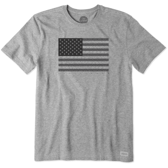 Men's Grayscale Flag Crusher Tee