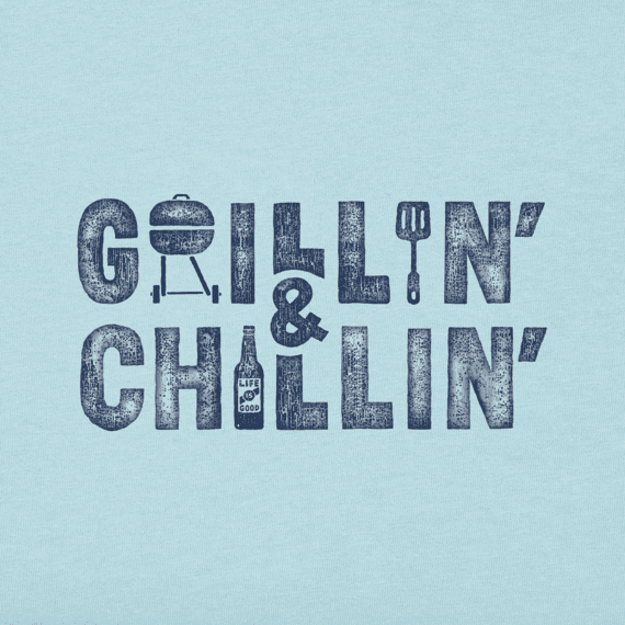 Men's Grillin' & Chillin' Long Sleeve Crusher Tee