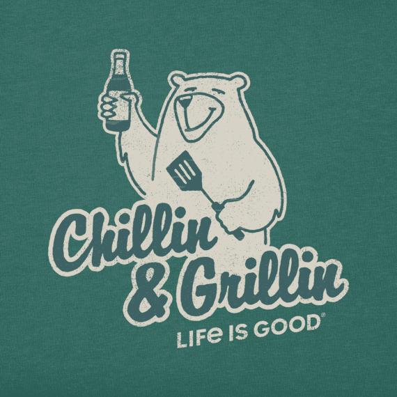 Men's Grillin' Bear Long Sleeve Cool Tee