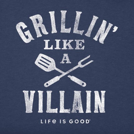 Men's Grillin' Like A Villain Crusher Tee