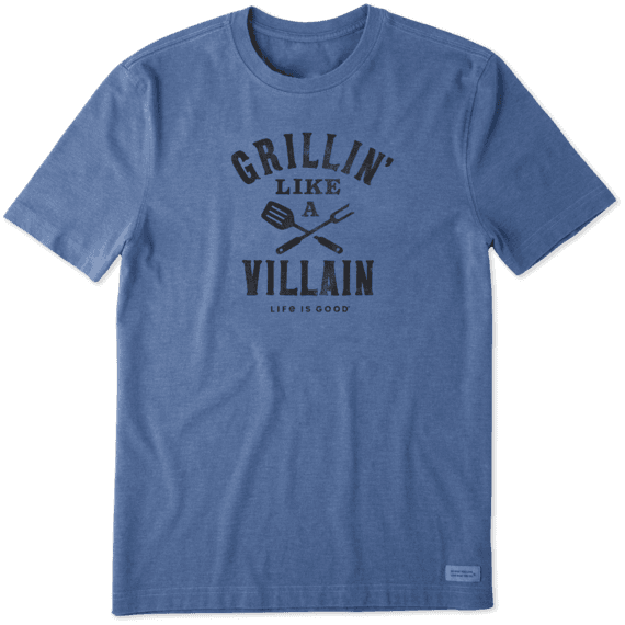 Men's Grillin' Like A Villain Crusher Tee