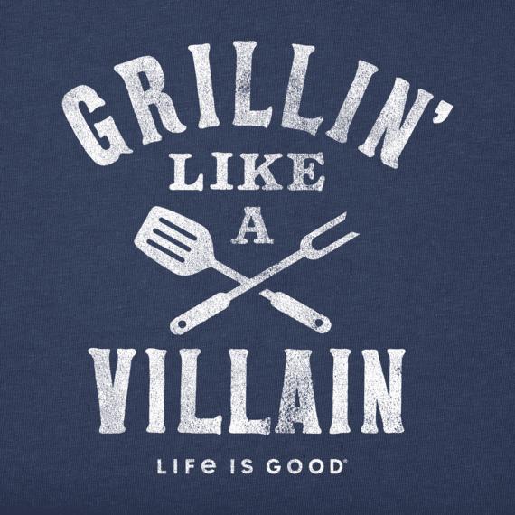 Men's Grillin' Like a Villian Crusher Tee