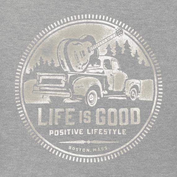 Men's Guitar Truck Lifestyle Hooded Sweatshirt