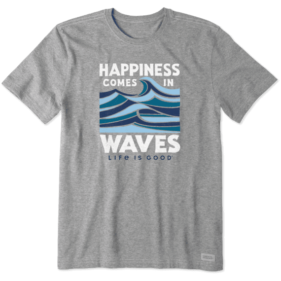 Men's Happiness Comes in Waves Crusher Tee