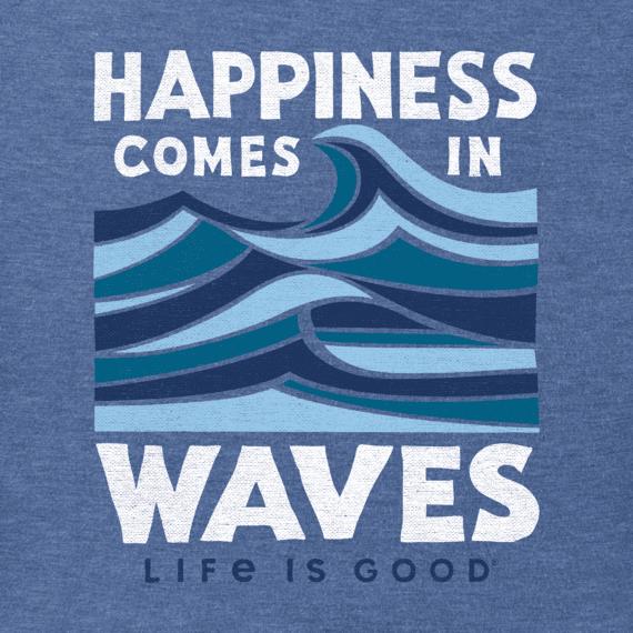 Men's Happiness Comes in Waves Crusher Tee