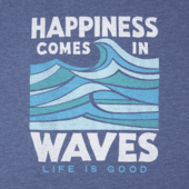 Men's Happiness Comes In Waves Cool Tee