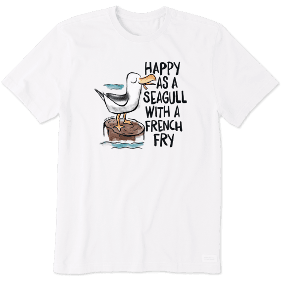 Men's Happy As A Seagull Crusher Tee