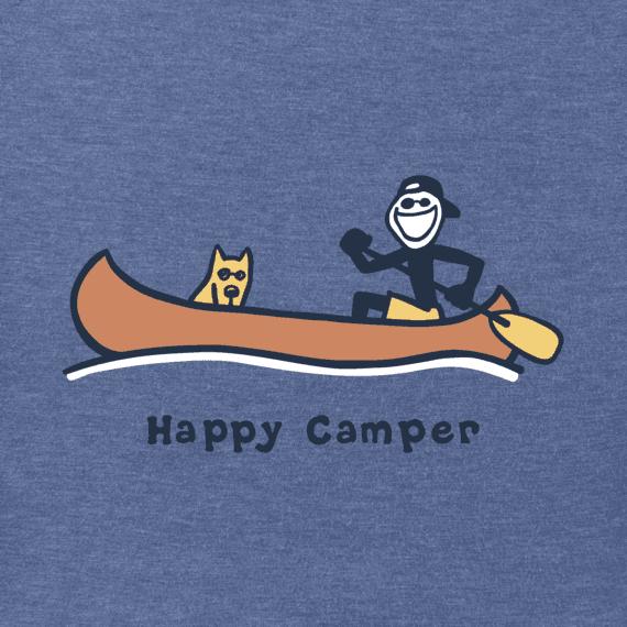 Men's Happy Camper Canoe Vintage Crusher Tee