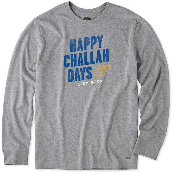 Men's Happy Challah Days Long Sleeve Crusher Tee