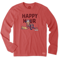 Men's Happy Hour Camp Long Sleeve Crusher Tee