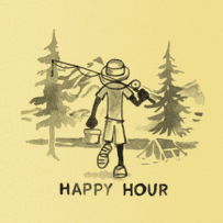 Men's Happy Hour Long Sleeve Smooth Tee