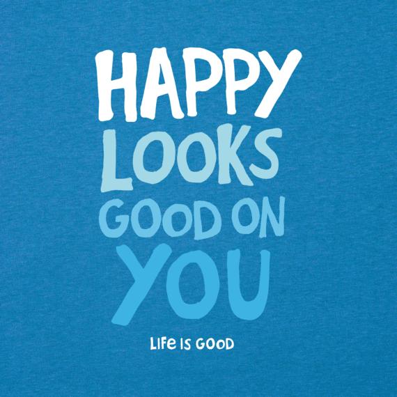 Men's Happy Looks Good On You Cool Tee