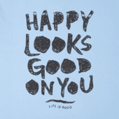 Men's Happy Looks Good On You Smooth Tee