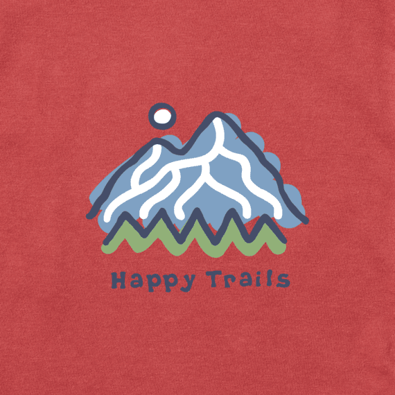 Men's Happy Trails Mountain Long Sleeve Vintage Crusher Tee