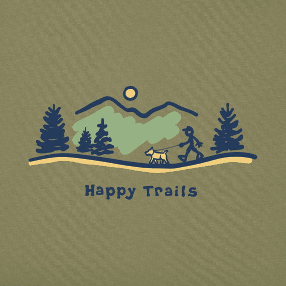 Men's Happy Trails Vista Long Sleeve Vintage Crusher Tee