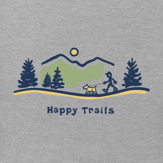 Men's Happy Trails Vista Vintage Crusher Tee