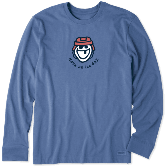 Men's Have an Ice Day Long Sleeve Vintage Crusher Tee