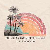 Men's Here Comes The Sun Rainbow 2021 Crusher Tee