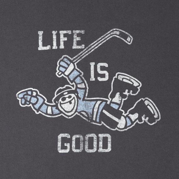 Men's Hockey Score Life Is Good Long Sleeve Crusher Tee