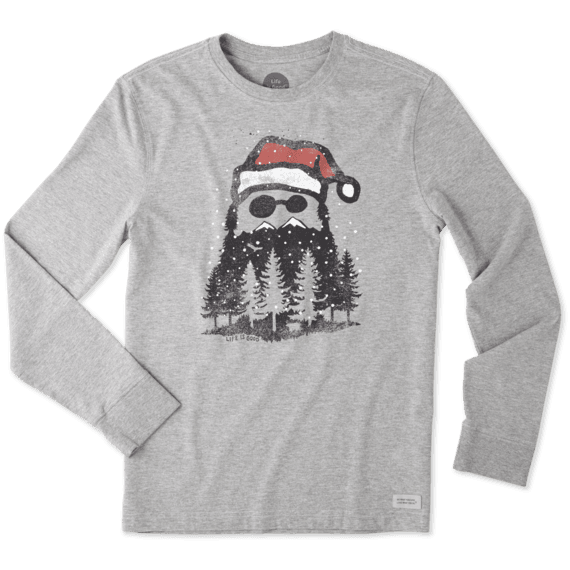 Men's Holiday Beard Long Sleeve Crusher Tee