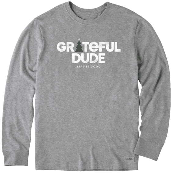 Men's Holiday Grateful Dude Long Sleeve Crusher Tee