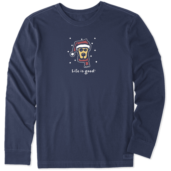 Men's Holiday Rocket Long Sleeve Vintage Crusher Tee