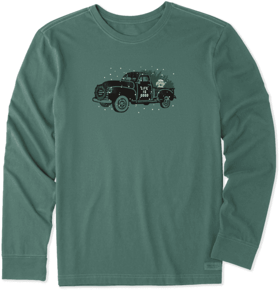 Men's Holiday Truck Long Sleeve Crusher Tee