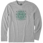 Men's Holiday Vibes Long Sleeve Crusher Tee
