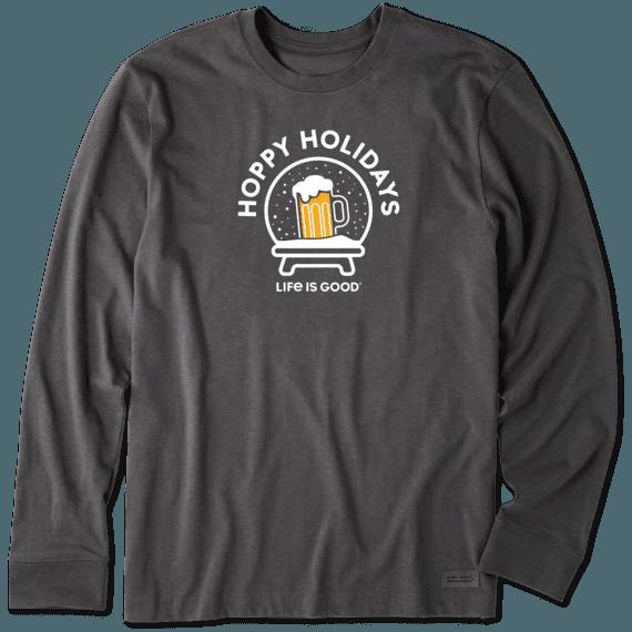 Men's Hoppy Holidays Snow Globe Long Sleeve Crusher Tee