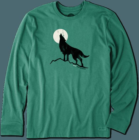 Men's Howling Wolf Long Sleeve Crusher Tee