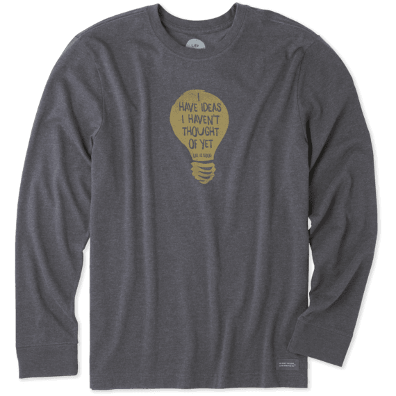 Men's I Have Ideas Long Sleeve Crusher Tee