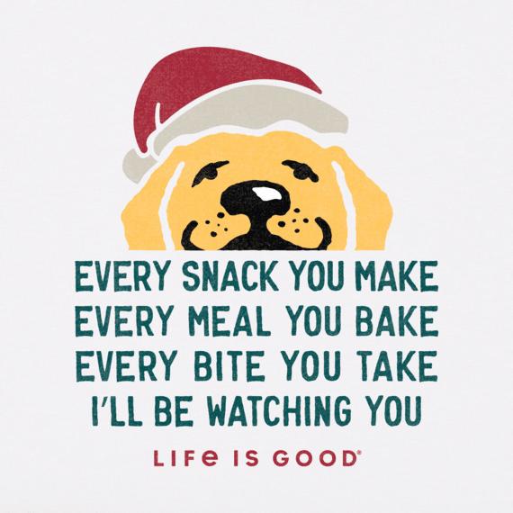 Men's I'll Be Watching You Santa Long Sleeve Crusher Tee