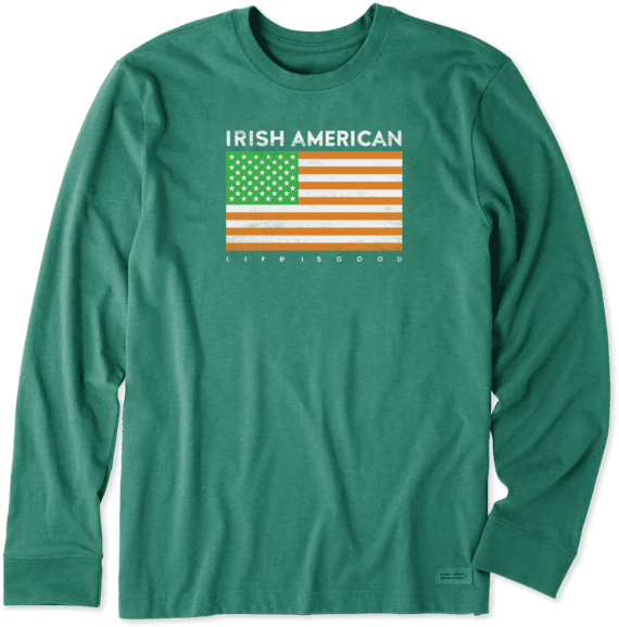 Men's Irish American Long Sleeve Crusher Tee