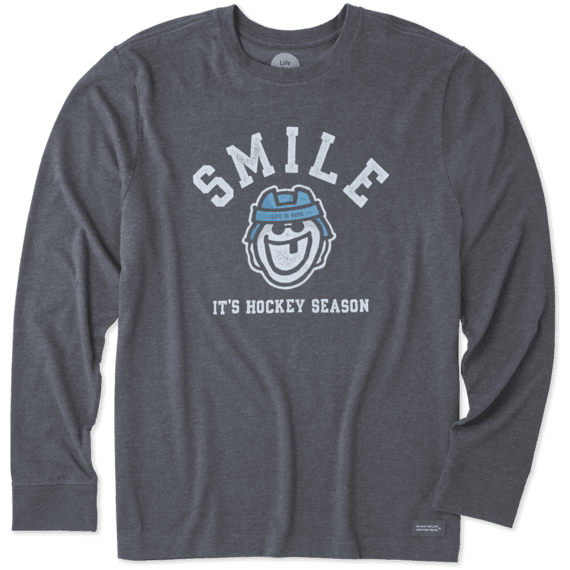 Men's Its Hockey Season Long Sleeve Crusher Tee