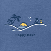 Men's Jake And Rocket Happy Hour Sunset Vista Vintage Crusher Tee